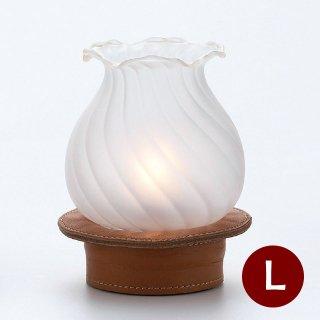 オイルランプ テーブル用 革レザー 2個 Lunax ルナックス (OL-31C-42W)