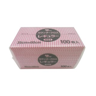 カウンタークロス袋入 レギュラー ピンク 100枚入 KT-023(427112)