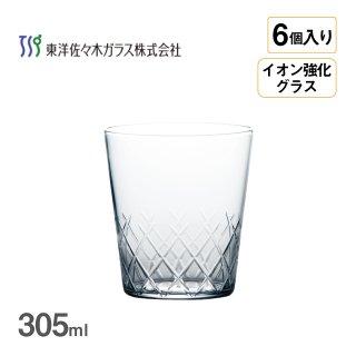 オンザロック 薄氷 矢来カット 305ml 6個入 東洋佐々木ガラス](B-21109CS-C745)