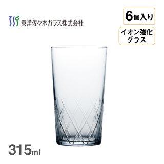タンブラー 薄氷 矢来カット 315ml 6個入 東洋佐々木ガラス(B-21110CS-C745)