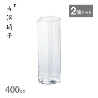デカンタ 変形角柱 大 400cc 2個セット 吉沼硝子(YD1-170DC)