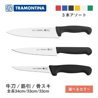 包丁セット B 牛刀 筋引 骨スキ プロフェッショナルマスター トラモンティーナ(TNSET-0010)