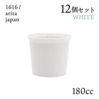 コーヒーカップ ホワイト ハンドル無 12個セット 180cc 1616/arita japan(192TYCP-NWH)