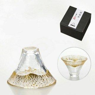 東洋佐々木ガラス 招福杯 富士山 単品(金透き) + 専用箱入 (42085G)