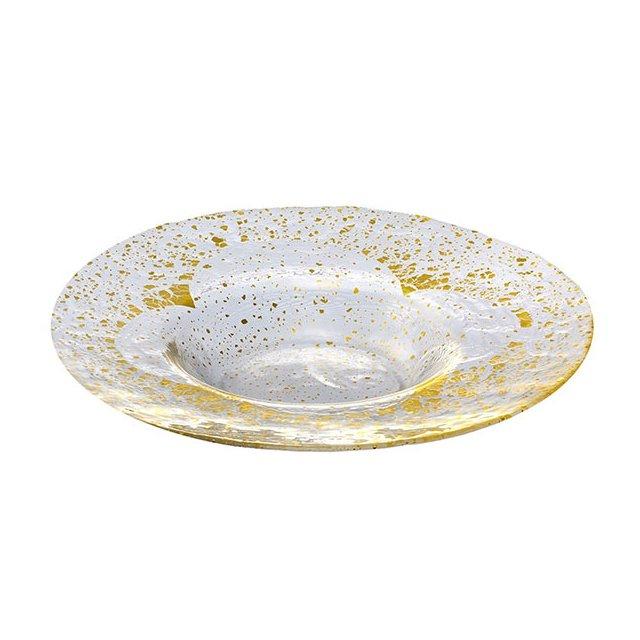 東洋佐々木ガラス オービット・金箔付き リム付プレート280 金箔付き (49020G)
