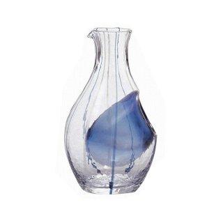 徳利 冷酒カラフェ ブルー 300ml 東洋佐々木ガラス (61507)