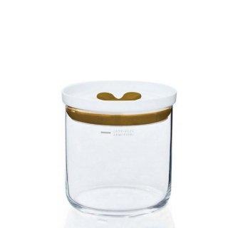 東洋佐々木ガラス キッチンデリ 保存容器キーパーM(ブラウン) 2個セット(B-60801-BR-JAN)