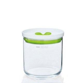 東洋佐々木ガラス キッチンデリ 保存容器キーパーM(オリーブグリーン) 2個セット(B-60801-OG-JAN)
