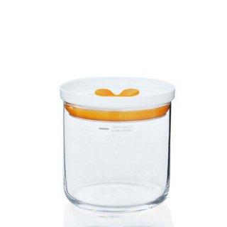 東洋佐々木ガラス キッチンデリ 保存容器キーパーM(オレンジ) 2個セット(B-60801-OR-JAN)