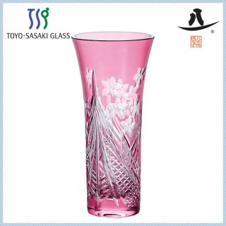 東洋佐々木ガラス 八千代切子 ・花器 花器(花見幕) (LV68359SAU-C663)