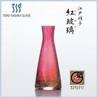 東洋佐々木ガラス 江戸硝子 紅玻璃・花器 一輪挿し (LV68801RAU)