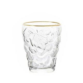 タンブラー 260ml 6個セット ぶどうのグラス ゴールドリング アデリア 石塚硝子 (3291)