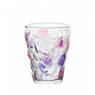 タンブラーグラス 260ml 6個セット ぶどうのグラス バイオレットピンク アデリア 石塚硝子 (7694)