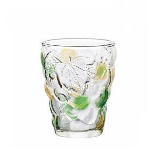 タンブラーグラス 260ml 6個セット ぶどうのグラス グリーンアンバー アデリア 石塚硝子 (7695)