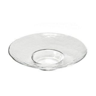 ガラス 皿 食器 アラカルトプレート 280 クリア 3個セット ダブルエフ リムレット アデリア/石塚硝子(F-49364)