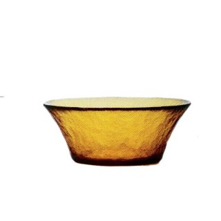 ガラス食器 ボウル 3個 FF bowl ボール125 アンバー ダブルエフ FF bowl アデリア 石塚硝子 (F-71384)