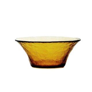 ガラス食器 ボウル 3個 FF bowl ボール145 アンバー ダブルエフ FF bowl アデリア 石塚硝子 (F-71385)