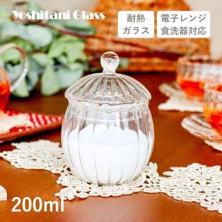 吉谷硝子 ウェーブ シュガーポット 3個セット 120ml [耐熱ガラス] (YF-1013W)