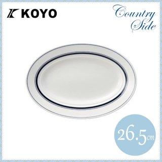 カントリーサイド 26.5cmプラター ネイビーブルー 6枚セット KOYO コーヨー(13428045)