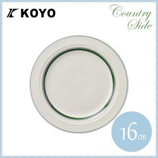 カントリーサイド 16cmパン皿 モスグリーン 6枚セット KOYO コーヨー(13427008)
