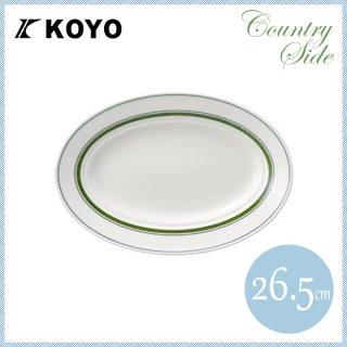カントリーサイド 26.5cmプラター モスグリーン 6枚セット KOYO コーヨー(13427045)