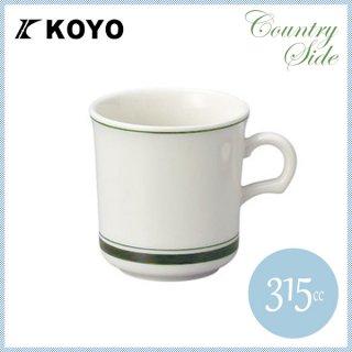 カントリーサイド マグカップ 315ml モスグリーン 6客セット KOYO コーヨー(13427050)