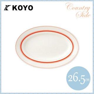 カントリーサイド 26.5cmプラター ソーバーオレンジ 6枚セット KOYO コーヨー(13425045)