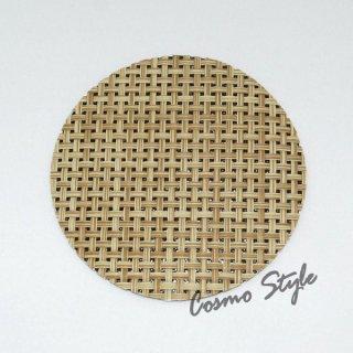 格子コースター(ベージュ) (5枚セット) (AS-19-19)