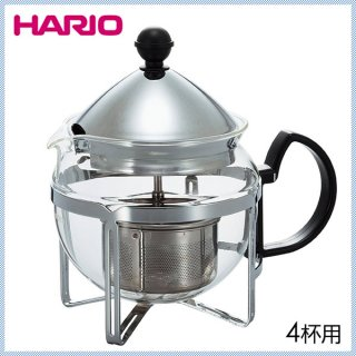 HARIO ハリオ 茶王 4人用 シルバー (CHAN-4SV)