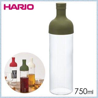 HARIO ハリオ Filter-in Bottle(フィルターインボトル) フィルターインボトル オリーブグリーン 750ml (6個セット) (FIB-75-OG)