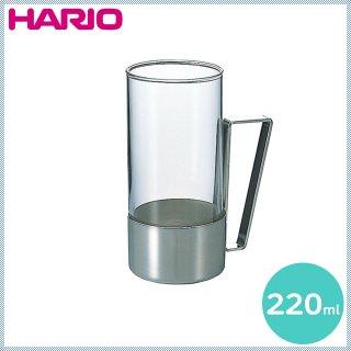 HARIO ハリオ 耐熱ホットグラス・スクエア 220ml 6個 (HW-8SSV)