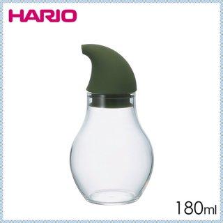 HARIO ハリオ ヌーバ 調味料入れドロップ 180 オリーブグリーン 180ml (6個セット) (NCD-180-OG)