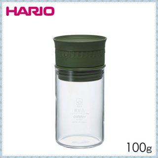 HARIO ハリオ ヌーバ 計量スパイスストッカー オリーブグリーン 100g (6個セット) (NSS-M-OG)
