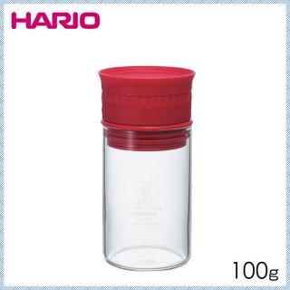 HARIO ハリオ ヌーバ 計量スパイスストッカー レッド 100g (6個セット) (NSS-M-R)