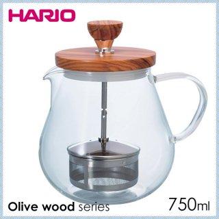 HARIO ハリオ Olive wood series ティオール・ウッド 700ml (TEO-70-OV)