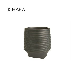 KIHARA 香酒盃 黒釉千段(L) + 専用化粧箱 (429L-113)