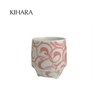 KIHARA 香酒盃 紅巻紋(L) + 専用化粧箱 (429L-117)