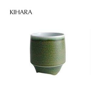 KIHARA 香酒盃 緑イラホ(L) + 専用化粧箱 (429L-208)