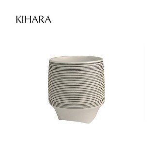 KIHARA 香酒盃 黒呉須象嵌(L) + 専用化粧箱 (429L-119)
