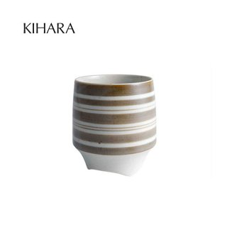 KIHARA 香酒盃 縞(錆) (L) + 専用化粧箱 (429L-210)