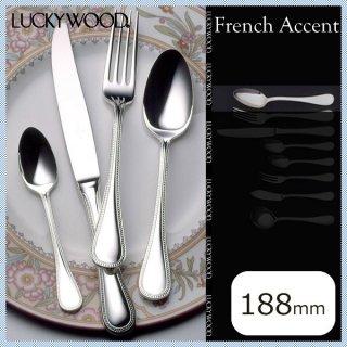 ラッキーウッド フレンチアクセント デザートスプーン 6本セット (18400-02)