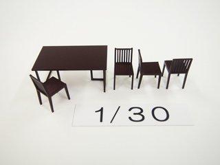 1/30 ダイニング家具(カラー)5点セット