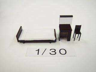 1/30 寝室家具(カラー)3点セット