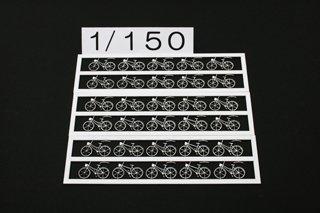 1/150 自転車(白)30台セット