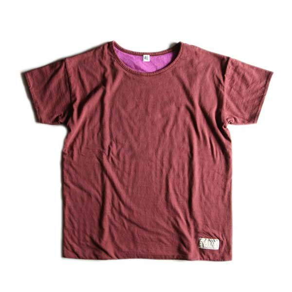 """FILL THE BILL"" WASTE COTTON REVERSIBLE TEE (BROWN × PURPLE)"