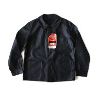 N.O.S. 1940's FRENCH MOLESKIN WORK JACKET (MEDIUM)