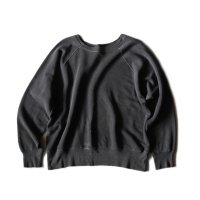 1960's COTTON SWEAT SHIRT FADED BLACK (LARGE)