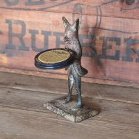 ANTIQUE CASTIRON FOX ORNAMENT