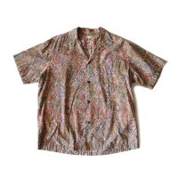 1960's COTTON HAWAIIAN BOX SHIRT (LARGE)