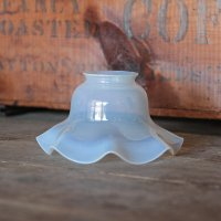 ANTIQUE BLUE GLASS LAMP SHADE